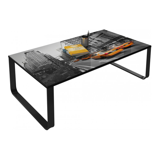 Beekhuis American Boulevard Patterned Glass Coffee Table In Grey_3