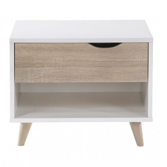 Belavo Bedside Cabinet In Matt White And Sonoma Oak_2