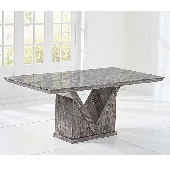 Balchor Marble Large Dining Table In Grey With V Shape Base_2