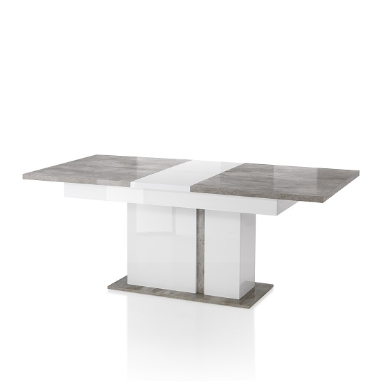 Belgrave Marble Effect Grey And White Extendable Dining Table