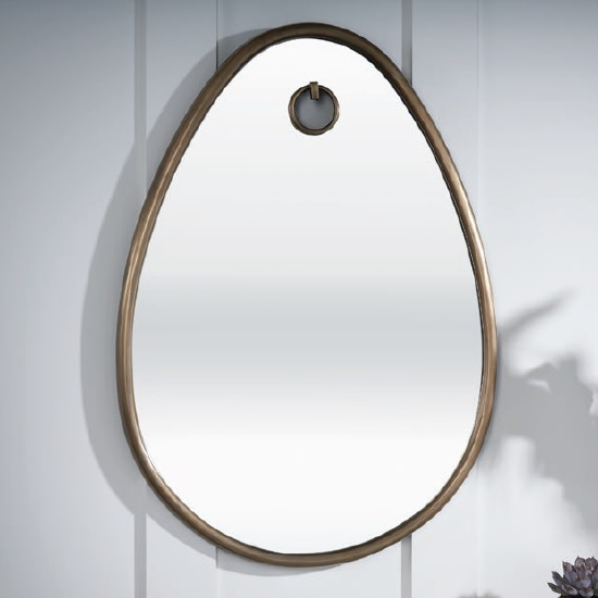 Belgrave Wall Mirror Oval In Antique Brass