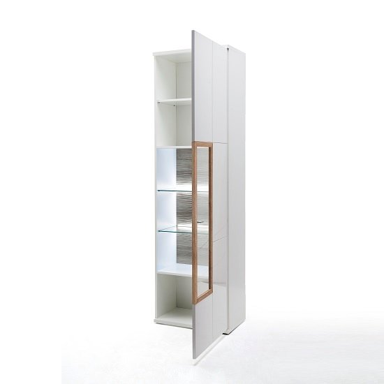 Belina Right Display Cabinet In White With High Gloss And LED_2
