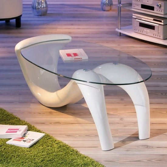 Bella Glass Coffee Table In Curved High Gloss White_4