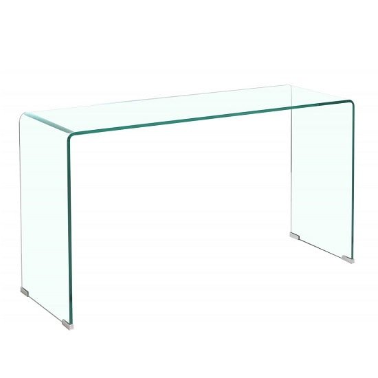 View Silvio console table rectangular in clear glass