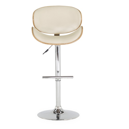Bellamy Bar Stool In Cream Faux Leather With Metal Base_2