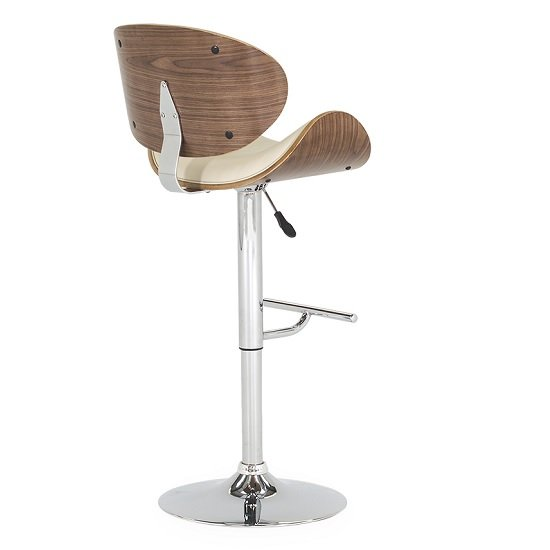 Bellamy Bar Stool In Cream Faux Leather With Metal Base_3