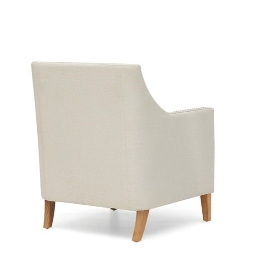 Bellard Fabric Sofa Chair In Ivory White With Natural Ash Legs_2