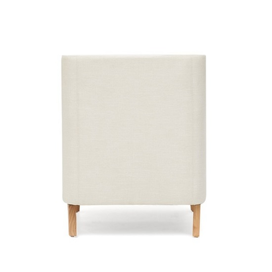 Bellard Fabric Sofa Chair In Ivory White With Natural Ash Legs_3