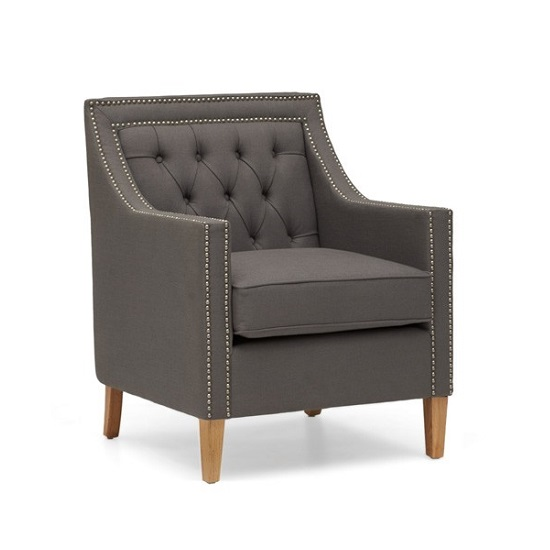 Bellard Fabric Sofa Chair In Grey With Natural Ash Legs_4