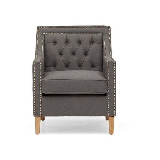 Bellard Fabric Sofa Chair In Grey With Natural Ash Legs_5