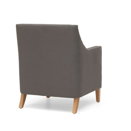 Bellard Fabric Sofa Chair In Grey With Natural Ash Legs_2
