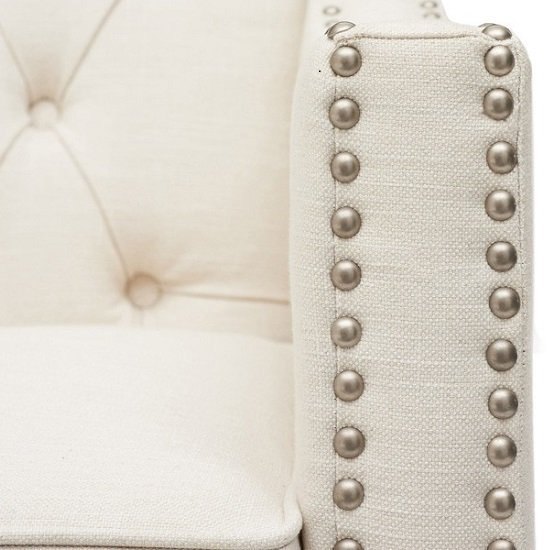 Bellard Fabric Sofa Chair In Ivory White With Natural Ash Legs_5