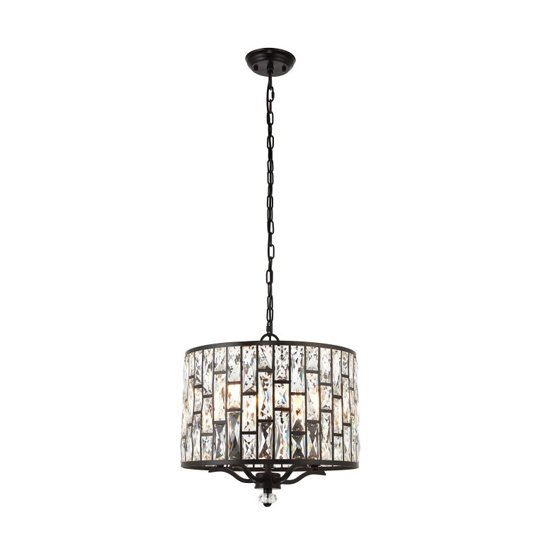 Belle Wall Hung 5 Pendant Light In Brown