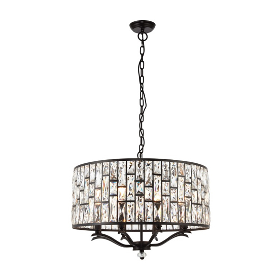 Belle Wall Hung 8 Pendant Light In Black_1