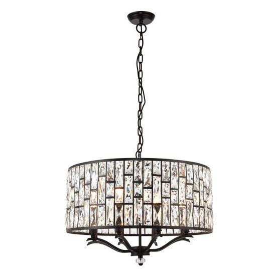 Belle Wall Hung 8 Pendant Light In Brown