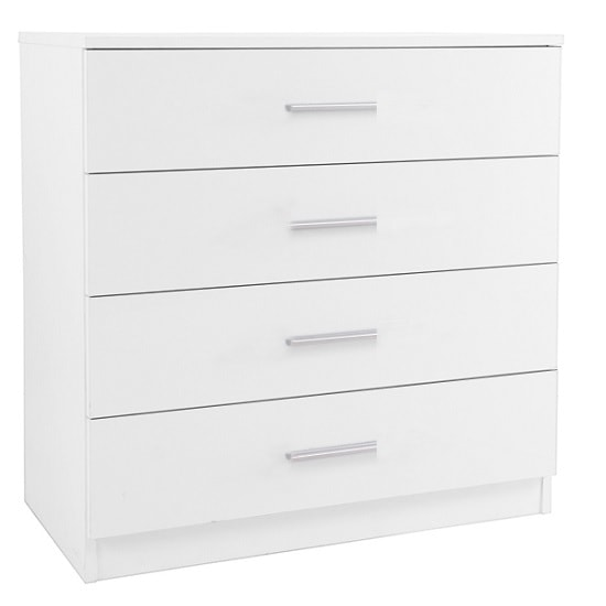 Belvoir Chest Of Drawers In White With High Gloss Fronts_1