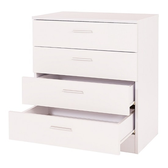 Belvoir Chest Of Drawers In White With High Gloss Fronts_2