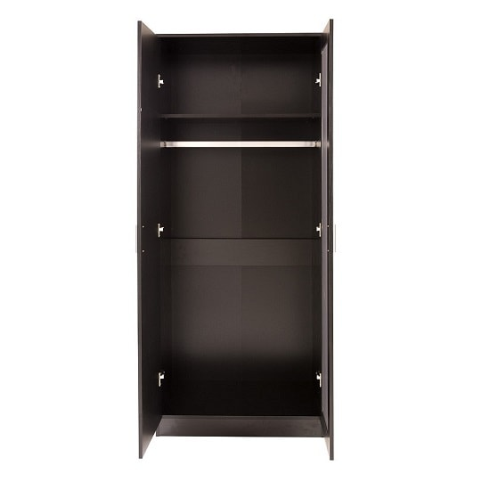Belvoir Mirrored Wardrobe In Black With High Gloss Fronts_2