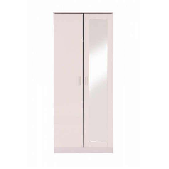 Belvoir Mirrored Wardrobe In White With High Gloss Fronts_3