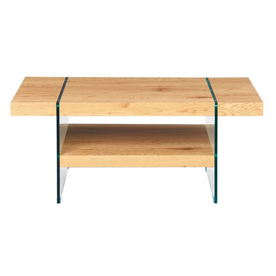 Benina Wooden Coffee Table In Wild Oak