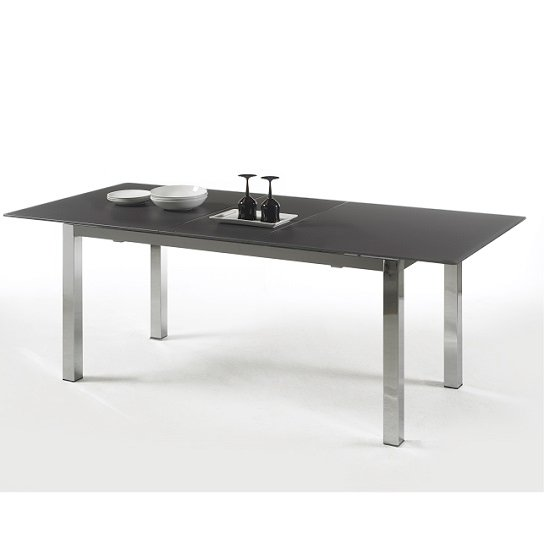 dining tables bentini extending dining table large black glass