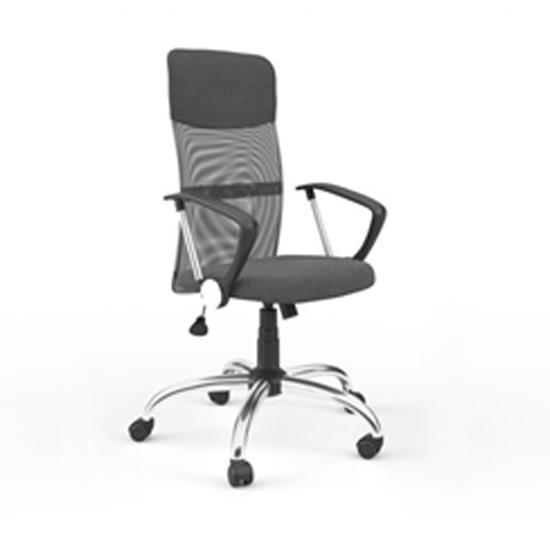 Benzine Home Office Chair In Grey Mesh