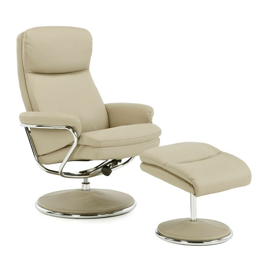 Cool Berkeley Swivel Recliner Chair In Taupe Faux Leather Dailytribune Chair Design For Home Dailytribuneorg