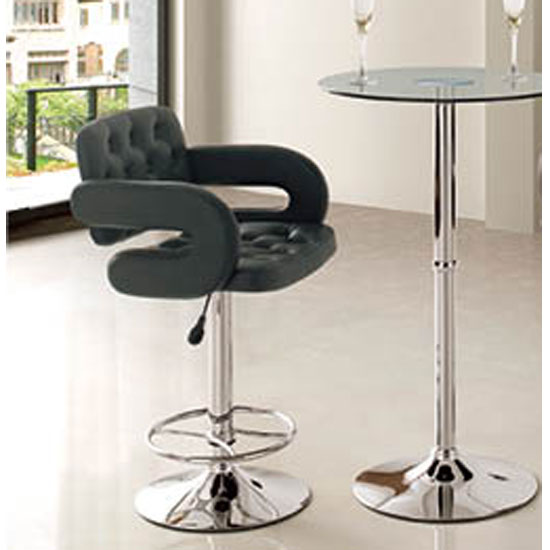 Berkley Black Gas Lift Bar Stool