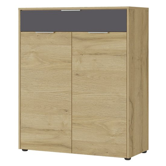 Berlebeck Shoe Storage Cabinet In Grandson Oak And Graphite