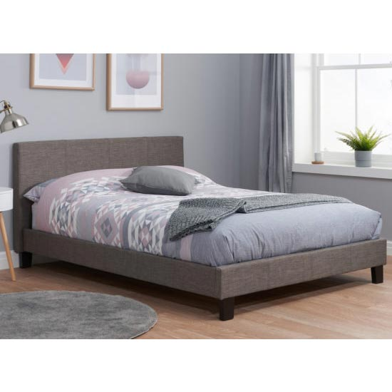Berlin Fabric Double Bed In Grey_1