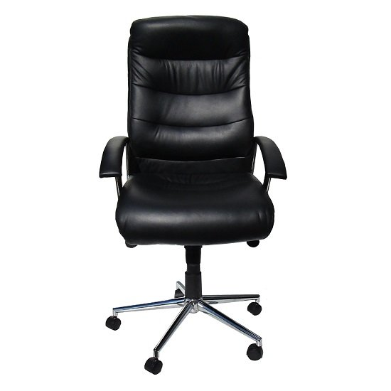 Home Office Chairs Berlin Home Office Chair In Black Faux Leather With