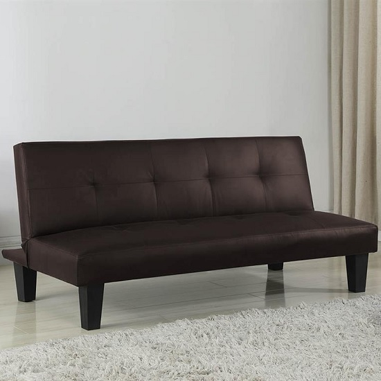 Bern Traditional Sofa Bed In Brown Faux Leather
