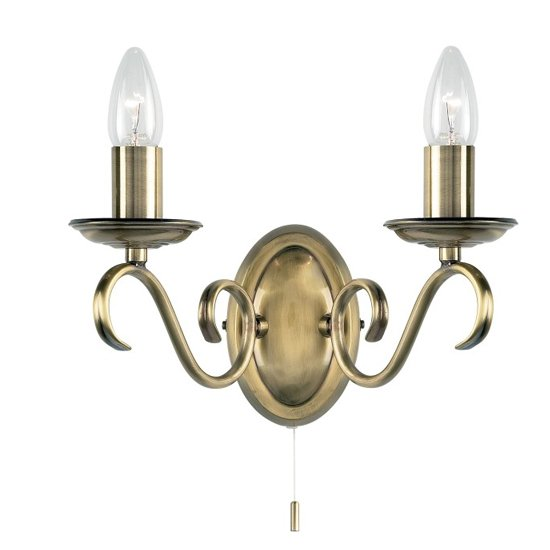 Bernice Wall Light In Antique Brass_1
