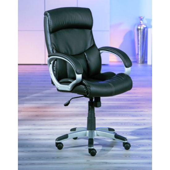 Bertoni Office Chair in Black Height Adjustable