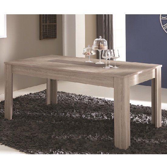 Berwick Wooden Dining Table Rectangular In Shannon Oak