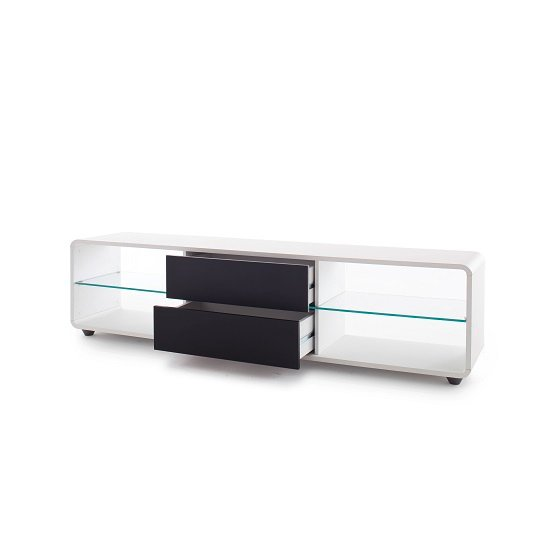 Bethan Modern TV Stand In Matt White And Anthracite_2