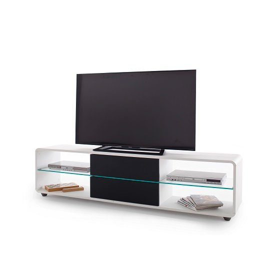 Bethan Modern TV Stand In Matt White And Anthracite_3