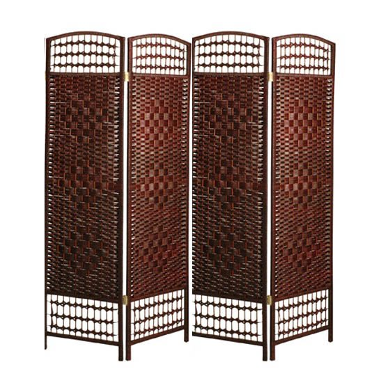Bettina 4 Panel Room Divider In Tobacco