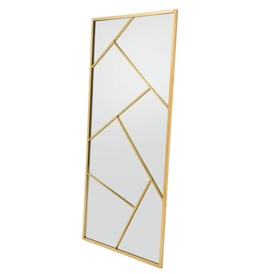 Betty Contemporary Floor Standing Mirror With Gold Frame