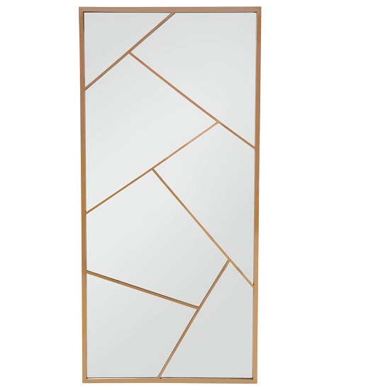 Betty Contemporary Floor Standing Mirror With RoseGold Frame_2