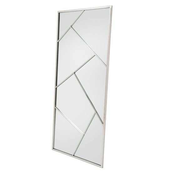 Betty Contemporary Floor Standing Mirror With Silver Frame
