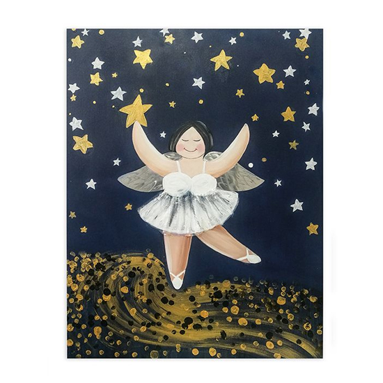 Betty Star Rain Picture Canvas Wall Art In Multicolor