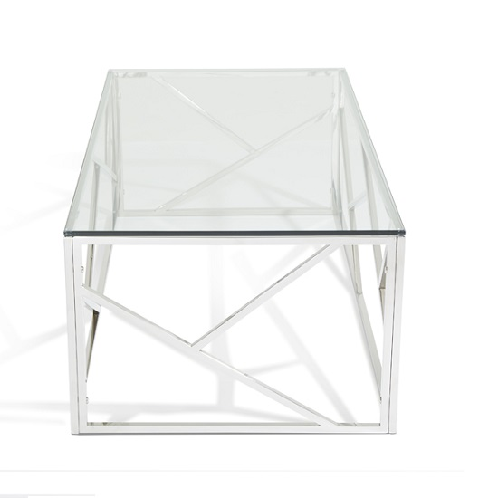 Betty Glass Coffee Table With Polished Stainless Steel Base_2