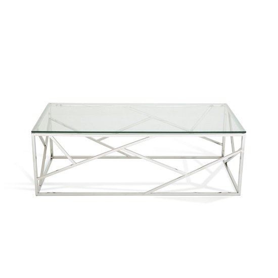 Betty Glass Coffee Table With Polished Stainless Steel Base_3
