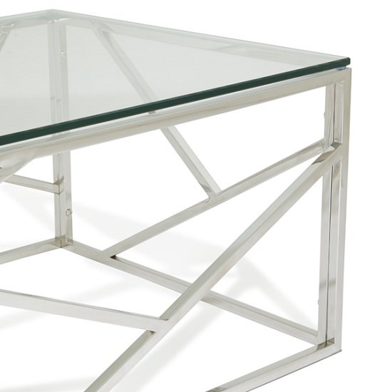 Betty Glass Coffee Table With Polished Stainless Steel Base_5