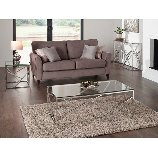 Betty Glass Coffee Table With Polished Stainless Steel Base_8