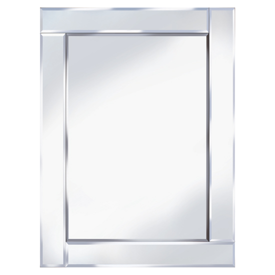 Bevelled 60x80 rectangle wall mirror 15129 furniture in for Mirror 60 x 80