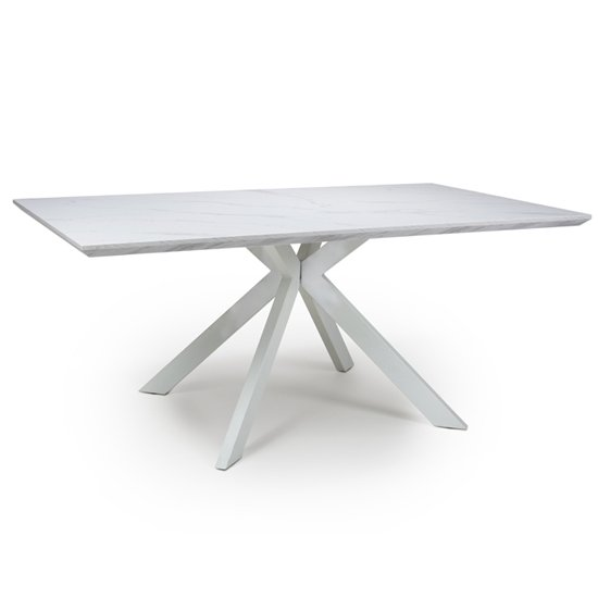 Biancon Large Extending Dining Table In Marble Effect_2
