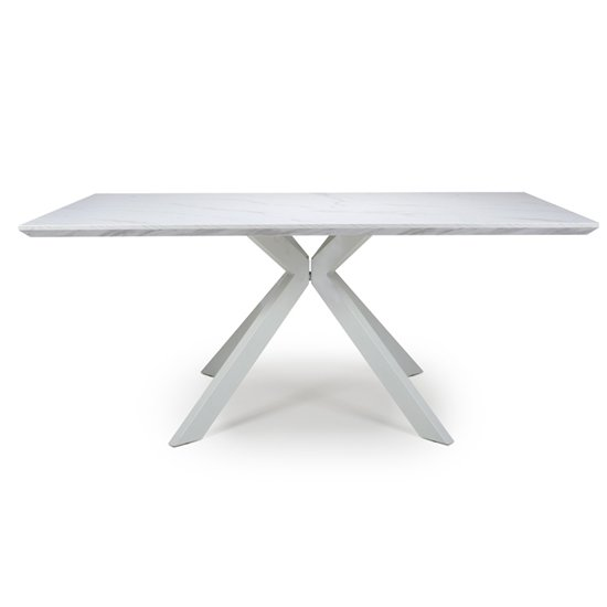 Biancon Large Extending Dining Table In Marble Effect_1