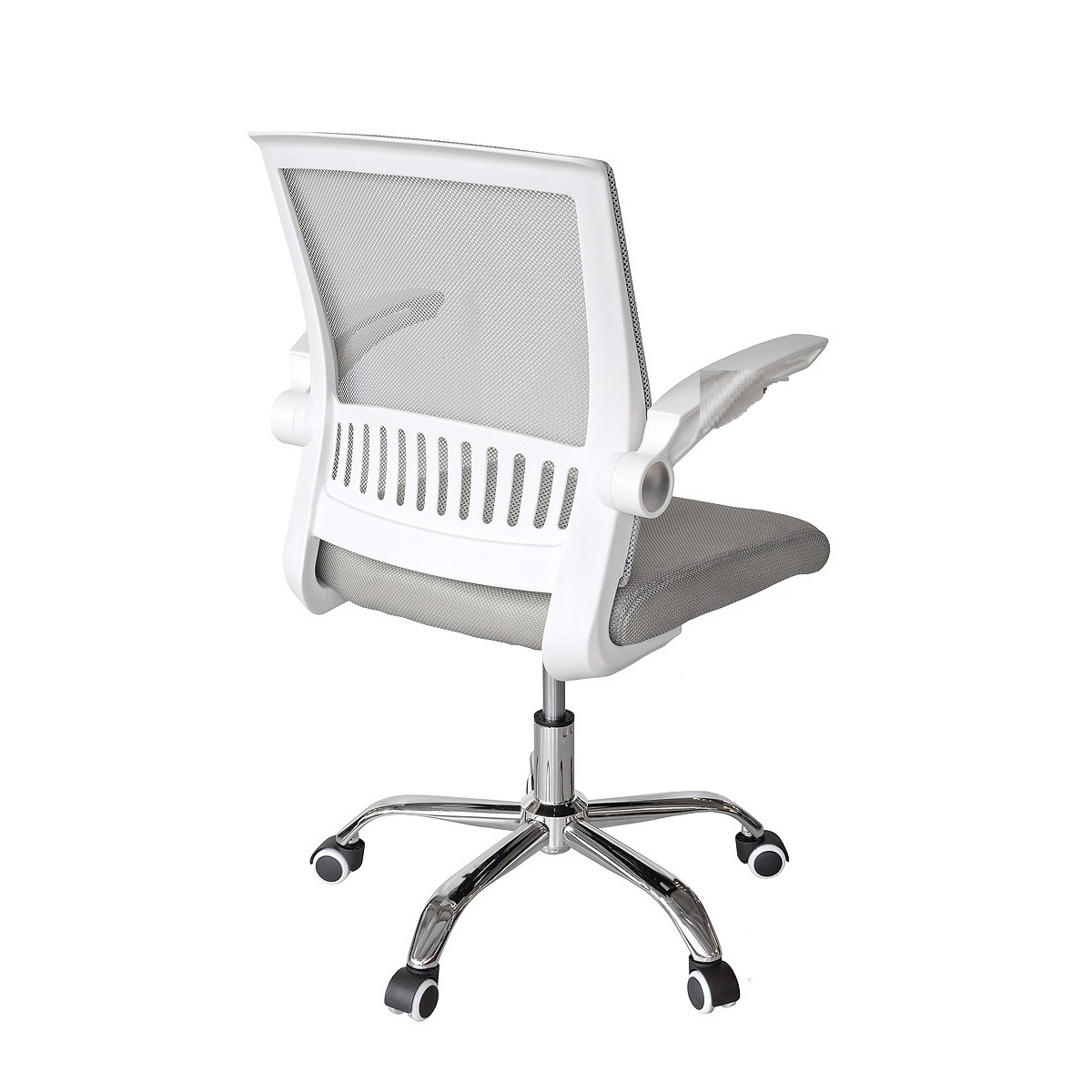 Bicester Mesh Office Chair In Grey And White With Chrome Base_2